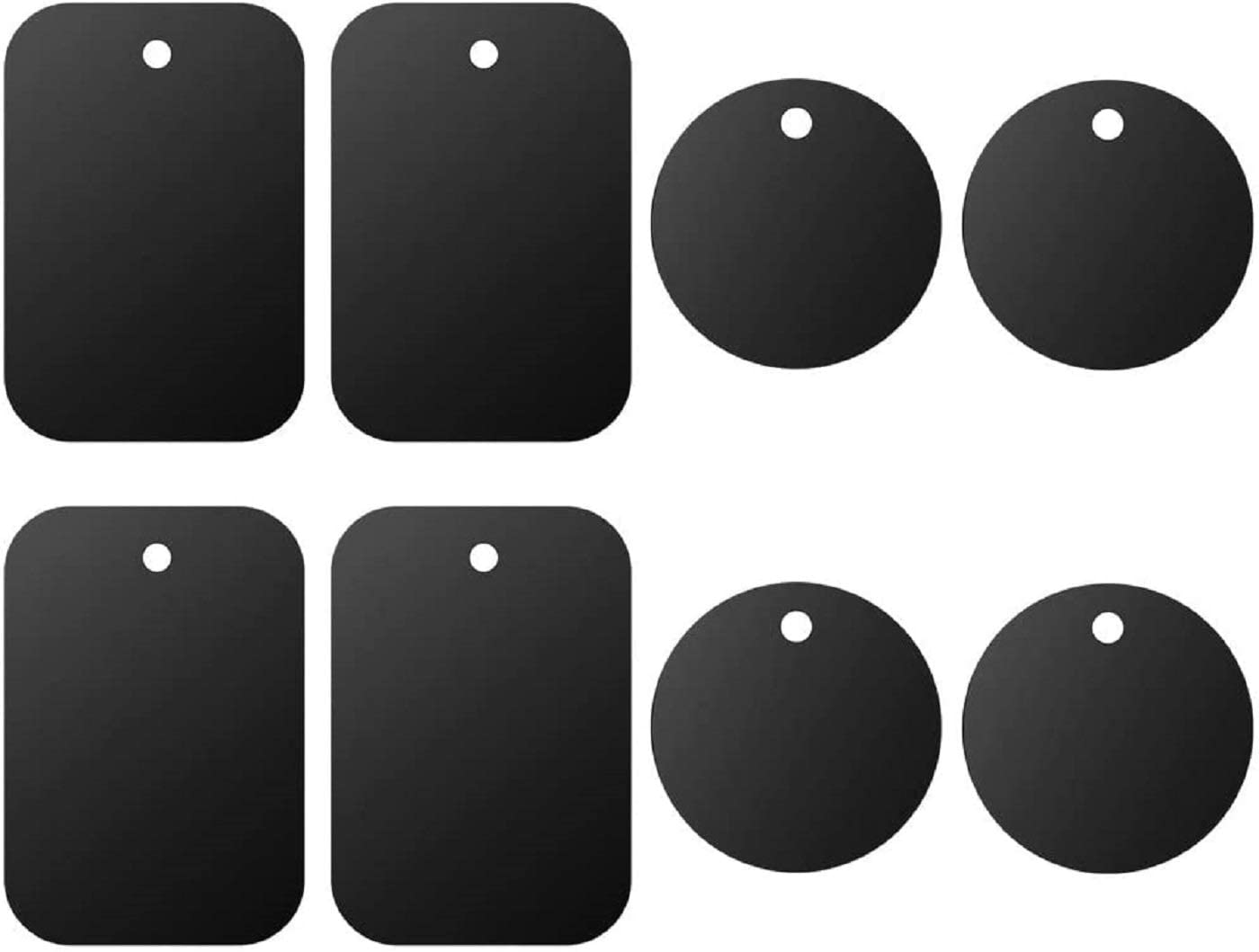 8 Pack of Rectangle and Round Magnetic Plates