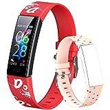 Dwfit - Reloj de pulsera deportivo para niño y niña, unisex, podómetro, rastreador de actividad, impermeable, pulsómetro de muñeca, sueño, podómetro, calorías para Android iOS