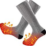 Heated Socks for Men Women, Makida Upgraded Heating Socks Recharge-able Battery Powered with 3 Levels Heating Settings,for Winter Outdoor Sport Camping, Fishing, Cycling, Motorcycling, Riding, Skiing