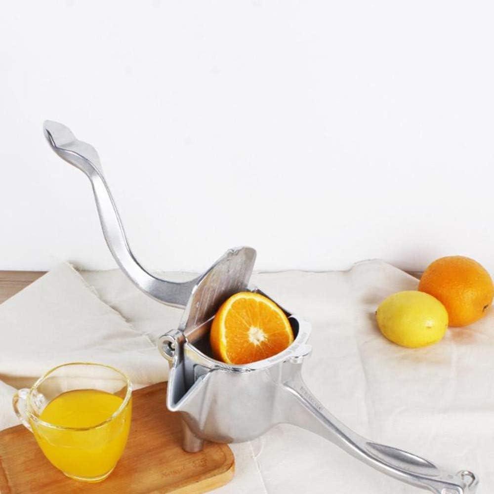 LLDKA Exprimidor Manual, Clip de limón de aleación de Aluminio 304 Squeeze Fruit Manual, Adecuado para Manzana, Naranja,Plata Gold