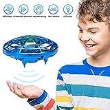 GEYUEYA Home UFO Mini Drohne, UFO Fliegendes Spielzeug Handgesteuerter RC Drone Quadcopter Mini Flugspielzeug Ball Infrarot Induktions Untertasse Drohne mit LED Spielzeug Geschenke für Jungen Mädchen