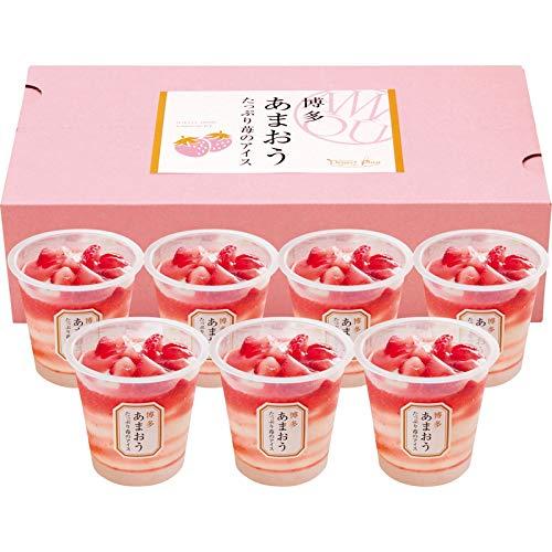 [お中元 夏ギフト] 博多あまおう たっぷり苺のアイス (包装のみ)