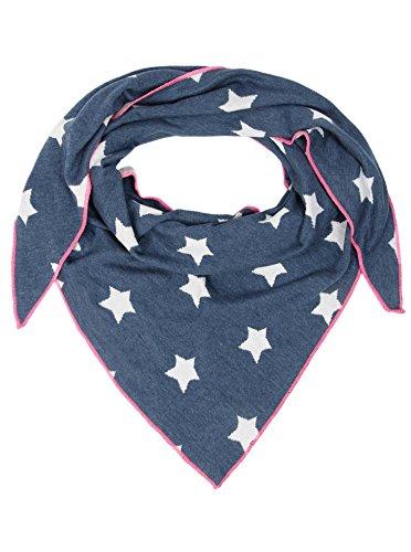 Zwillingsherz Dreieckstuch mit Baumwolle - Hochwertiger Schal mit Wende-Muster für Damen Jungen Mädchen - XXL Hals-Tuch und Damenschal - Strick-Waren für Sommer Herbst Winter 150cm x 120cm - jns