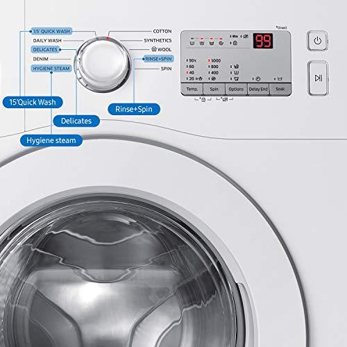 Samsung 6.0 Kg Inverter 5 Star Fully-Automatic Front Loading Washing Machine (WW60R20GLMA/TL, White, Hygiene Steam) 2