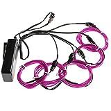 Lychee 51 Metre Neon Light El Wire w/Battery Pack for Parties, Halloween Decoration (Purple)