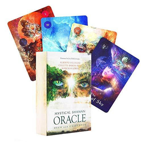 Huluda 64 cartas de tarô Shaman místico Oracle Deck Mysterious Fate adivinhação