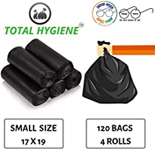 TOTAL HYGIENE Garbage Bag (Small) Size 17 Inch x 19 Inch (120 Bags) (4 Rolls)