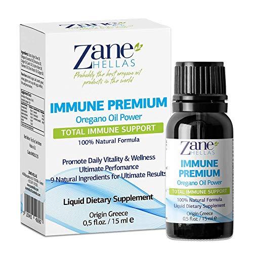 Zane Hellas Immune Premium Total Immune Support. Multiple Defense System. Wellness Support. Provides Strong Antioxidants. 100% Liquid Herbal Solution. 0.5 fl.oz. - 15ml