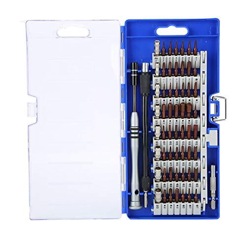 FOLOSAFENAR Juego de Destornilladores de reparación multifunción Juego de Destornilladores 60 en 1 de aleación de Acero 60 en 1 para reparación de teléfonos móviles