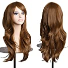 "Elailite® Cosplay Wigs for Women 23"" / Mono-Color Cosplay Wigs for Women -[ Light Brown]"