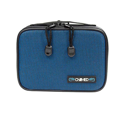 ChillMED Type 1 Diabetic Organizer Travel Kit for Diabetic Supplies | Insulin Cooler Bag with Ice Pack for Traveling & Everyday Use - Six to Eight Hours of Cool Time (Blue)