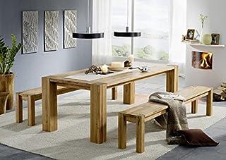 Table à Manger 220x100cm - Bois Massif de Chêne Sauvage huilé - Berlin