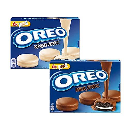 Oreo Plätzchen-Set | Oreo mit Schokolade überzogen, Weiß & Milchschokolade