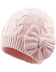 XIAOHAWANGベビー 帽子 ニット 新生児 帽子 女の子 コットン100% 赤ちゃん 防寒帽子 肌さわり快適 吸汗性よく 編みリボン 出産準備 出産祝い 秋 冬