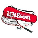 Wilson WRT913100 Kit de Squash, Starter Squash Kit, 1 Raquette Impact Pro 300, 2...