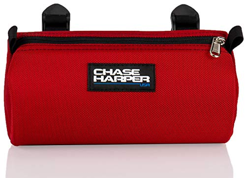 Chase Harper USA Bicycle Barrel Bag - Water-Resistant, Tear-Resistant, Industrial Grade Ballistic Nylon with Universal Mounting System - Red