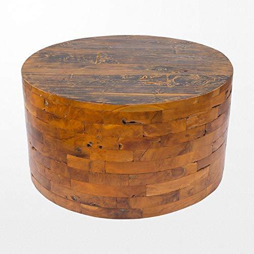 Atypik Home Table Ronde 90 cm Basse en Teck
