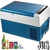 1yess 22L Mini Electric Nevera de compresor portátil pequeño refrigerador del Coche Refrigerador Congelador for la Pesca de Viaje de conducción al Aire Libre y Home Uso- Azul (Color : Blue)