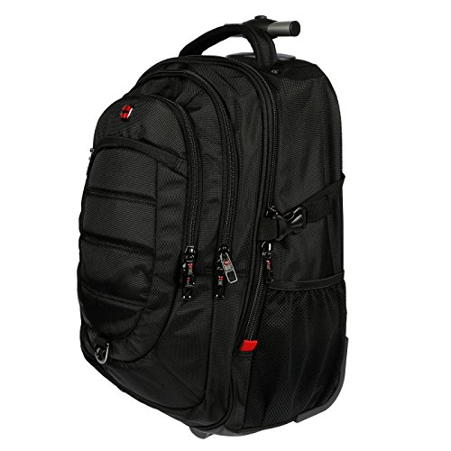 Christian Wippermann Buissnes Laptoptrolley Pilotentrolley mit Notebookfach inklusive Rucksack