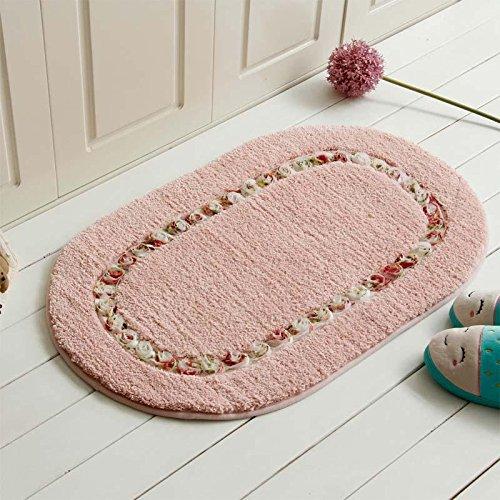 La rosa ovale a forma di rosa pastorale è in rilievo, lavabile in lavatrice, spessore, impermeabile, indossabile e antiscivolo , #2 , 50*80cm