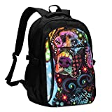 asfg Resistente a Las Manchas Color Labrador Art Multifunctional Personalized Customized USB Backpack, Student School Outdoor Backpack,Travel Bag Laptop Bookbags Business Daypack.