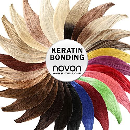 Keratin Bonding - # 60 - WEISSBLOND - 50cm - 25 Strähnen - 1g - 100% Remy Echthaar Haarverlängerung U-Tip Extentions by NOVON Hair Extensions mit sehr hoher Qualität
