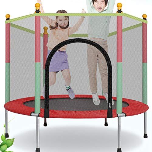 Trampoline voor Huis, 140cm Diameter Indoor Jumping Mat met Protection Net, Load 200kg, Eenvoudige montage, voor een volwassene of kinderen binnen- en Backyard Games
