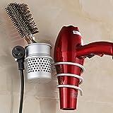 Joyoldelf montaje en pared Soporte para secador de pelo,Aluminio del...