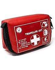 Selldorado® Traveller EHBO-set, 32-delig, ideaal voor outdoor, fiets, camping, reizen, sport, huisapotheek, met praktische riemlus