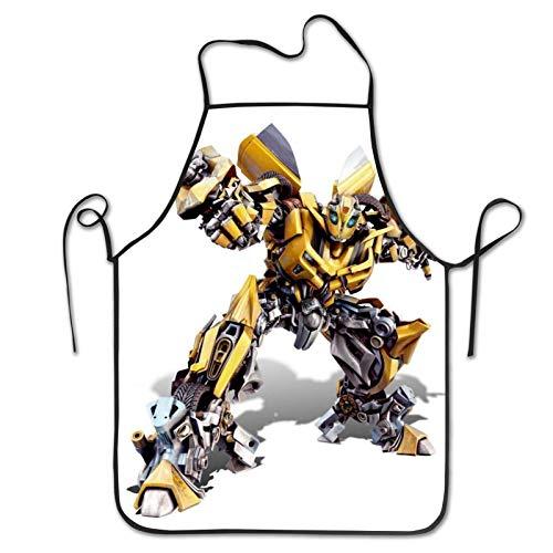Bumblebee Transformers Delantal con costuras unisex, impermeable, diseño de corazones y flores, ideal para cocinar, jardinería