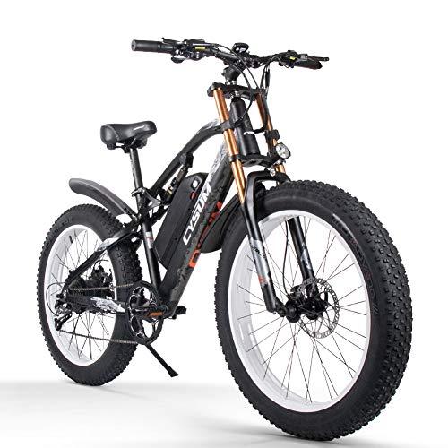 cysum Bicicletas eléctricas para Hombres, Fat Tire Ebikes de 26 Pulgadas Bicicletas...