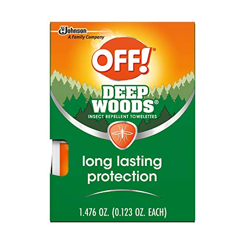 OFF! Deep Woods Towelettes with 25% DEET, Insect Repellent, 1 Pack, 12 ct