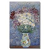 Bytfaa Flor Abstracta Moderna en un jarrón Pintura de orquídeas Carteles e Impresiones Cuadro artístico de Pared para la decoración del hogar de la Sala de Estar 40x60cm
