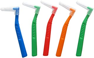 Healifty 歯間ブラシ 歯間クリーナー ブラシ 歯間歯垢除去 歯垢?ヤニ取り ケア?口腔衛生?は衛生用品 歯列矯正ブラシランダムカラー 5本セット