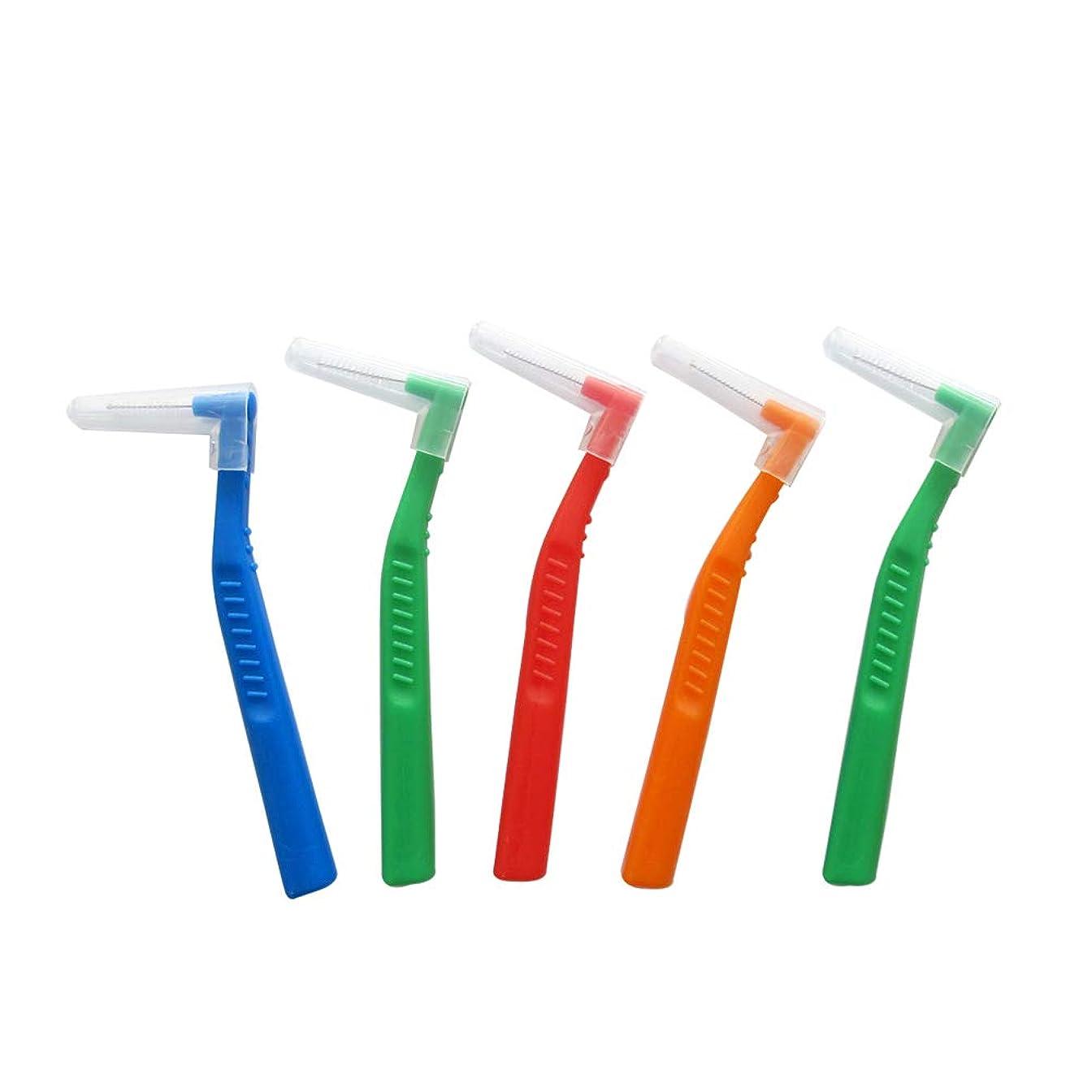 たまに世界記録のギネスブックミルSUPVOX 歯間ブラシ クリーナー l字型 歯間清掃 歯科 口腔ケアツール 5本入(ランダムカラー)