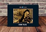 VERO PUZZLE 52165 Musik - Geige, 1000 Teile in hochwertiger, cellophanierter Puzzle-Schachtel