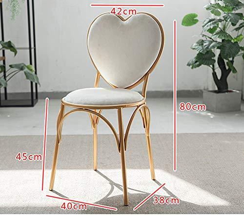 Faucet houlian shop bureaustoel Set in hoogte verstelbare multifunctionele verstelbare eenvoudige moderne hartvormige stoel 40 * 38 * 80cm tafel 55 * 60-90cm Chair