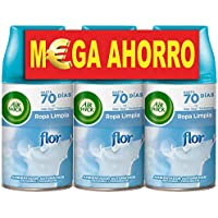 Air Wick Freshmatic - Recambios de Ambientador Spray Automático, Esencia para Casa con Aroma a Flor Ropa Limpia - Pack de 3