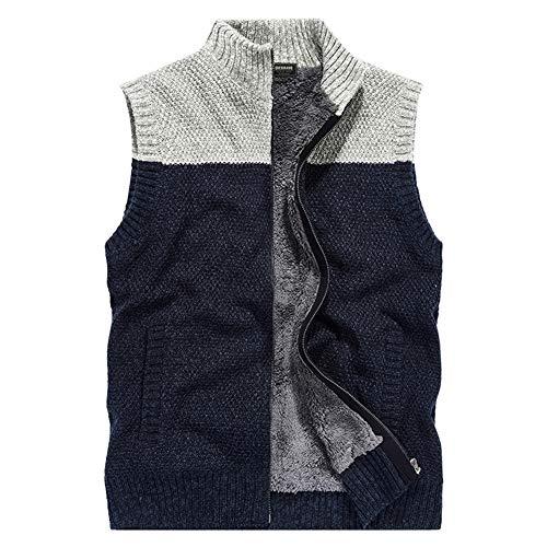 Cardigans Gebreid vest voor mannen - Warm gevoerd gebreid vest voor vest outdoor lopen lopen