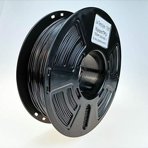 Stronghero3D Nylon PA TPU Impresora 3D Filamento TPU Fibra de Carbono 1.75mm 1kg para Ender3 CR10 Anycubic Precisión +/-0.05mm