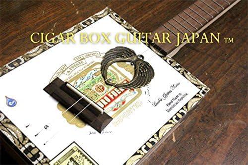 シガーボックスギター装飾パーツ!ブロンズオーバルウイング!合金製!