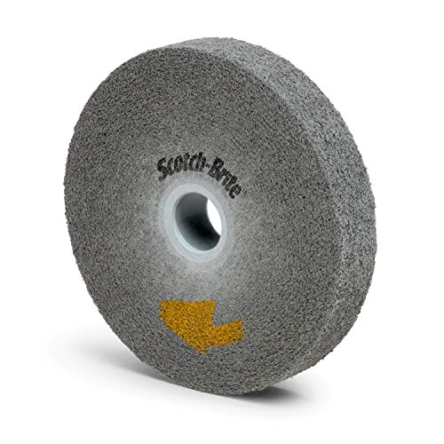 Scotch-Brite EXL PRO Deburring Wheel - Metal Deburring, Finishing and Polishing Wheel - Unitized - 6' x 1' x 1'