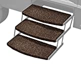 Prest-O-Fit 3-Pack 2-4047 Wraparound Radius RV Step Rug Espresso 22 in. Wide