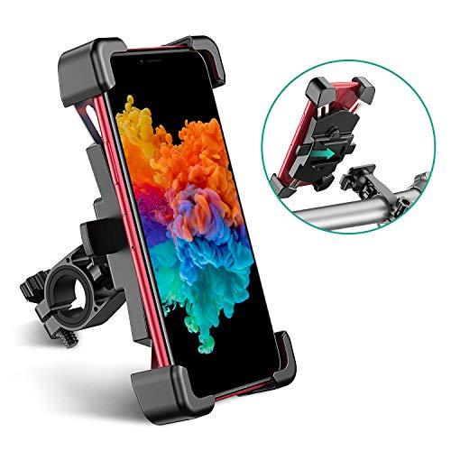 Cocoda Porta Cellulare da Bici Staccabile in Acciaio Inossidabile, Porta Cellulare Moto Anti Vibrazione con Rotazione a 360°, Compatibile con Tutti Gli Smartphone (4.5'-7.2')
