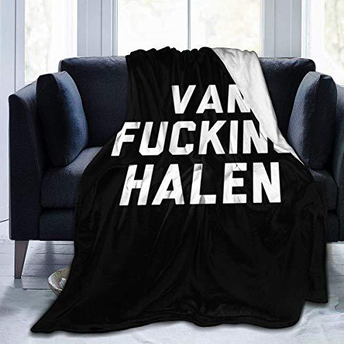 Van Fucking Halen zachte warme deken,flanellen fleece deken,Super zachte micro-fluwelen deken,Super zachte hypoallergene pluche slaapbank woonkamer