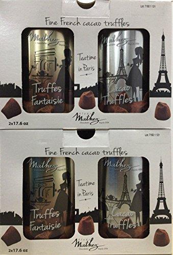 Mathez マセズ トリュフチョコレート 500g×2缶入×2箱