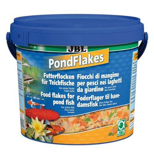 JBL Futterflocken PondFlakes 40197, Hauptfutter für alle Teichfische, 1er Pack (1 x 5,5 l)