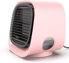 Nykkola - Enfriador de aire portátil, 4 en 1, humidificador/purificador con depósito de agua grande, 3 velocidades ajustables y luces LED de colores para el hogar y la oficina
