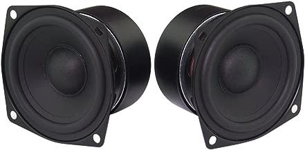 Full Range Loudspeaker, Yeeco 2.5 Inch 4Ohm HiFi Stereo Audio Speaker 5-10W 88dB Full-ranged Bookshelf Speaker for Car Audio DIY Bluetooth Speakers Tweeters, Pack of 2