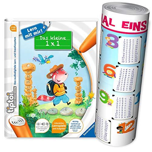 Ravensburger tiptoi  Buch | Das Kleine 1 x 1 - Lern mit Mir! + Zahlen Poster - 1x1 Einmaleins Rechnen